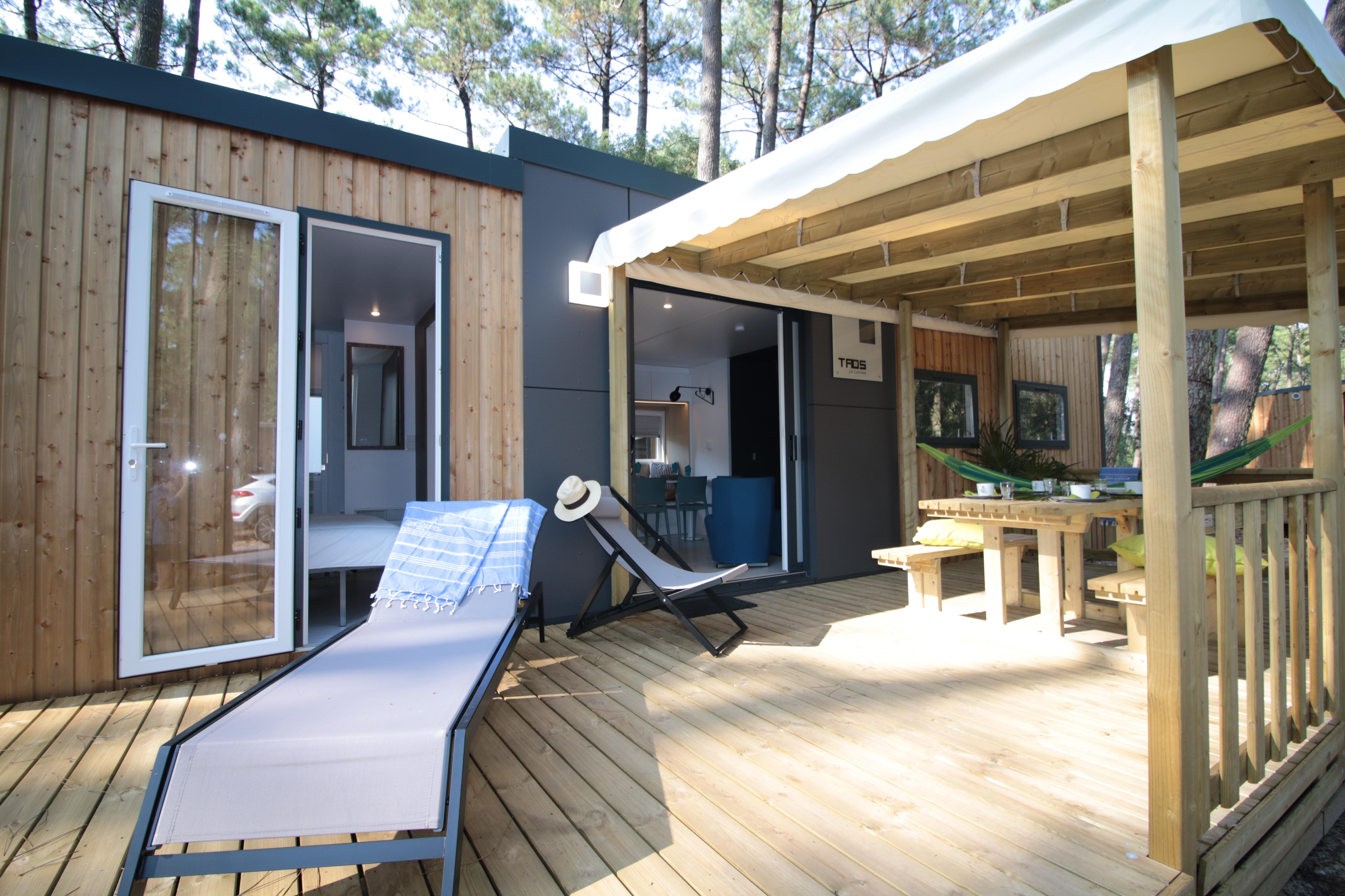 Terrasse en bois sur nos locations