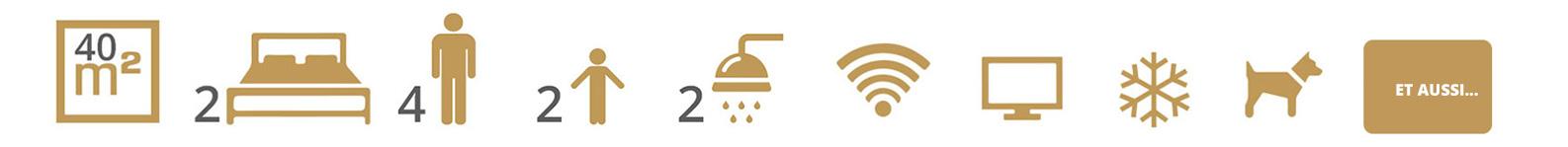 Icônes des services du camping