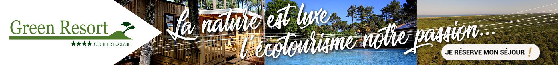 Bannière Green Resort ecotourisme