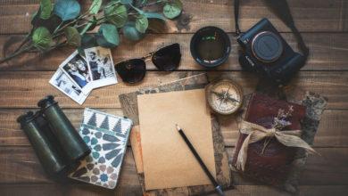 Le kit de l'explorateur (appareil photo, boussole, jumelles...)