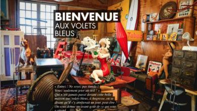 """Première page """"Bienvenue aux Volets Bleus"""""""