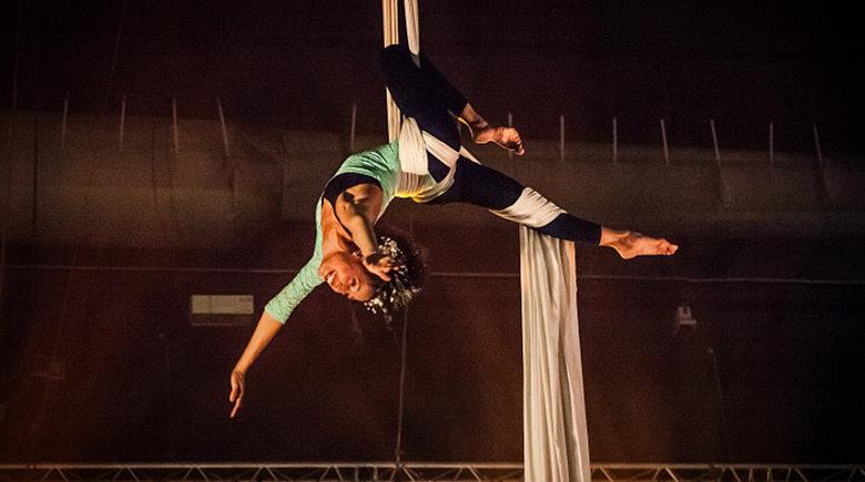 Voltige à l'école de cirque du Green Resort